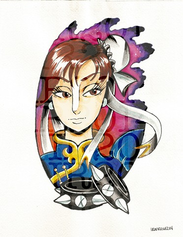 Chun-Li Watercolor