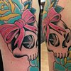 Skull, Bow and Roses