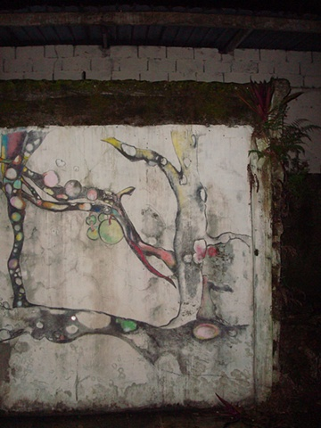 "Portobelo: ""Tree Spirit"" Wall Drawing (detail 2)"