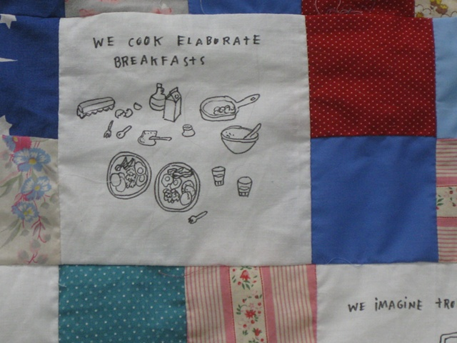 Quilt of Common Canadian Wintertime Activities (detail)
