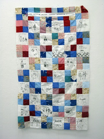 Quilt of Common Canadian Wintertime Activities