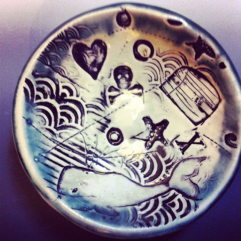 Treasure Map: small round dish