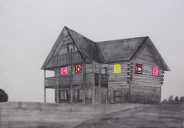 Letter Block Home by Elizabeth Coyle