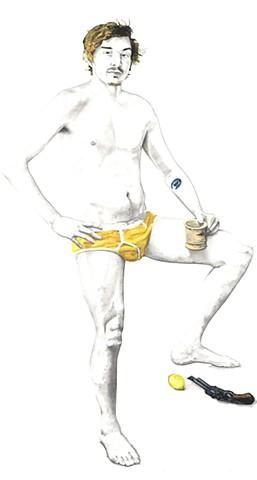 The Immortality of Admiral Girth Lemon  Gun and Mug