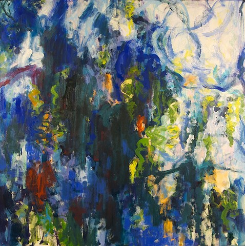 Landscape abstraction oil painting