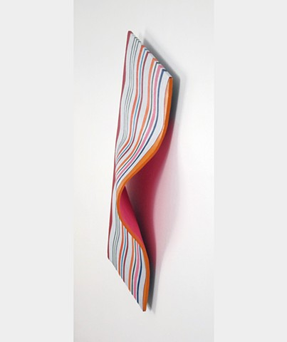 Abstract sculpture painted in acrylic by Shelley Gilchrist