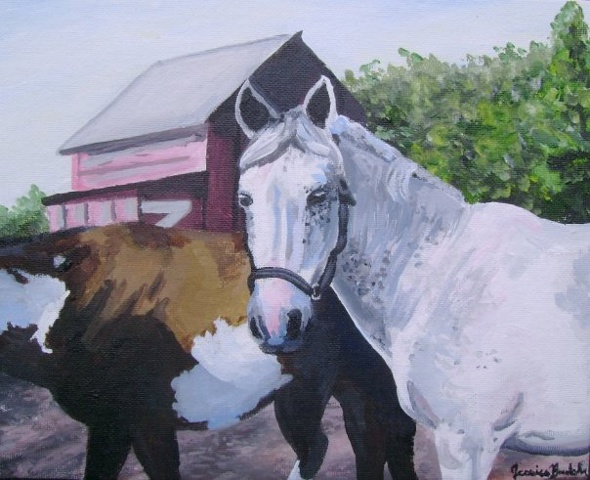 This is a portrait of a horse I used to know.