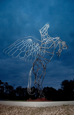 The Pegasus represents the magic of flight.