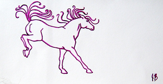 Mini Horse Drawing