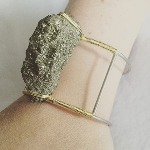 Floating Pyrite Bracelet
