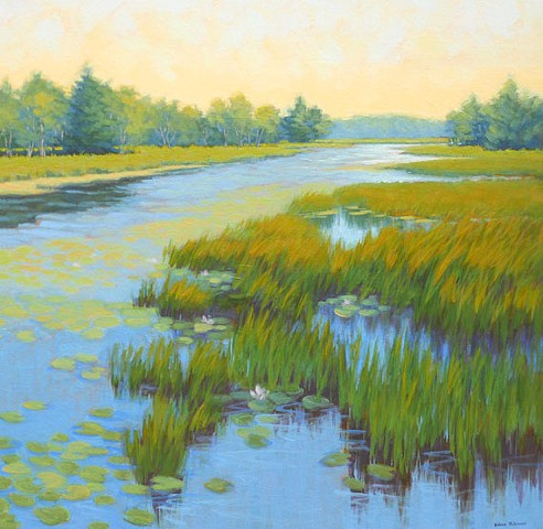 Quiet Pond Available at Yarmouth Frame & Gallery