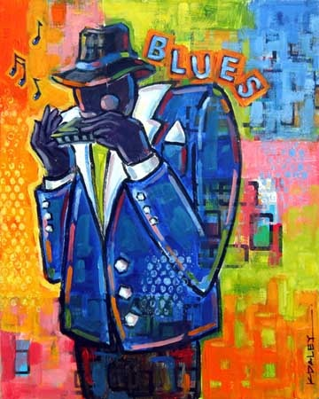 Harmonica Player SOLD