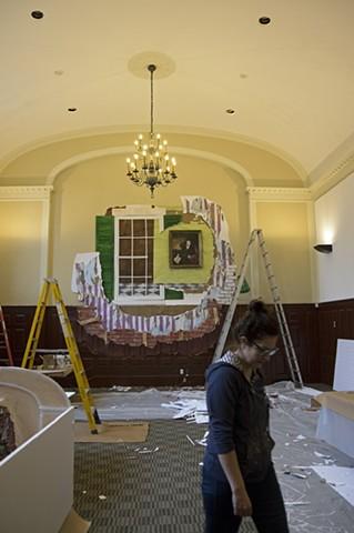 Campus Cutouts: Installation in Progress