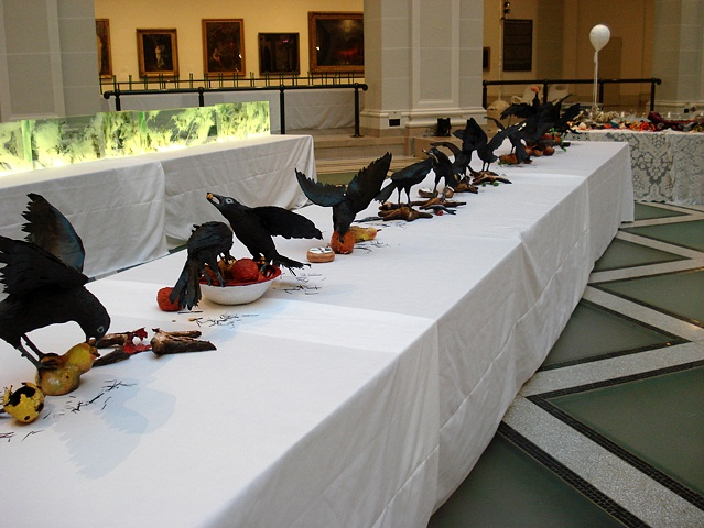 Still Lives with Crows, Brooklyn Museum Artists Ball