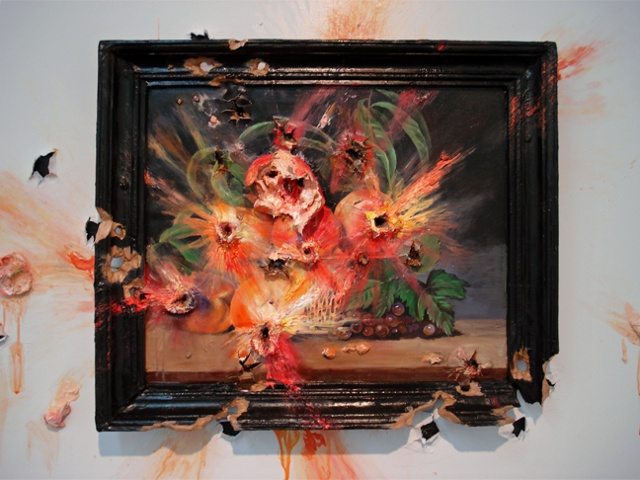 Exploding Peaches (with Frame)