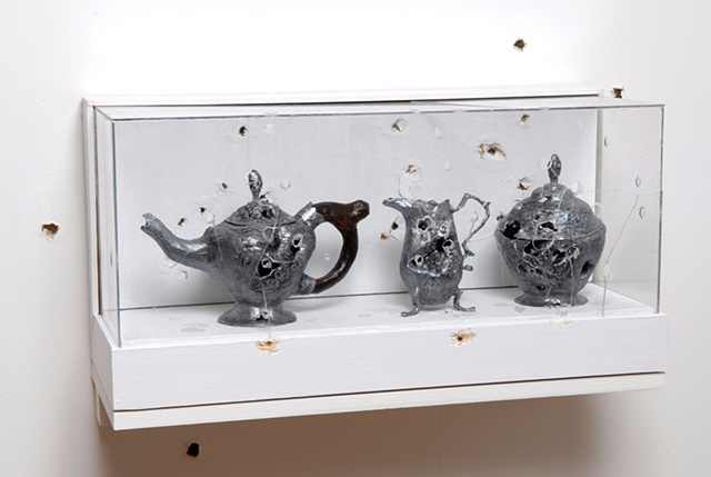 Paul Revere Tea Set with Holes