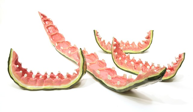 Watermelon Rinds with Teeth
