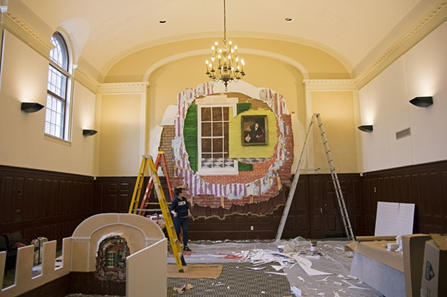 Campus Cutouts: Installation in Progress