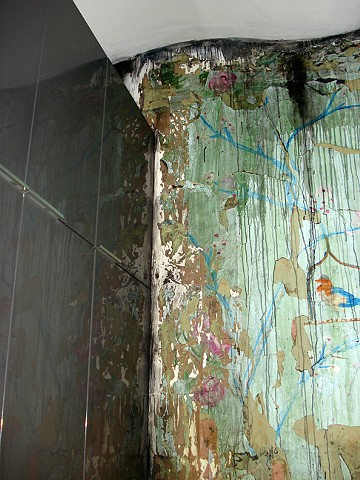 Chinese Wallpaper (Flood Damage) installed in private collector's kitchen