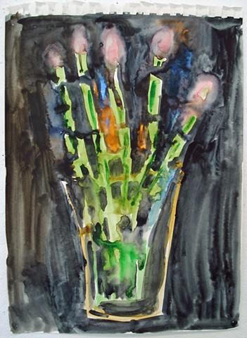 Skeleton Flower Hand in Vase