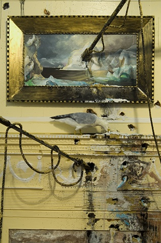 Seascape: Overseas (Fireplace with Harpoons)