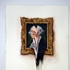 George Washington Portrait on Wall Melted  (Work on Paper)