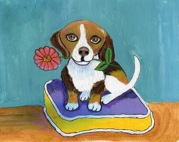 Cute beagle painting for sale