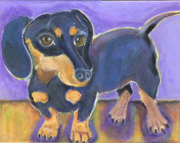A black and tan dachshund painting CUSTOM available