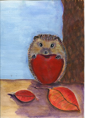 Hedgehog painting for sale