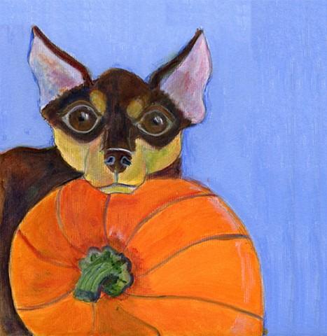 Halloween Chihuahua painting
