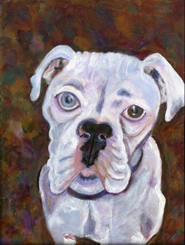 white boxer painting for sale