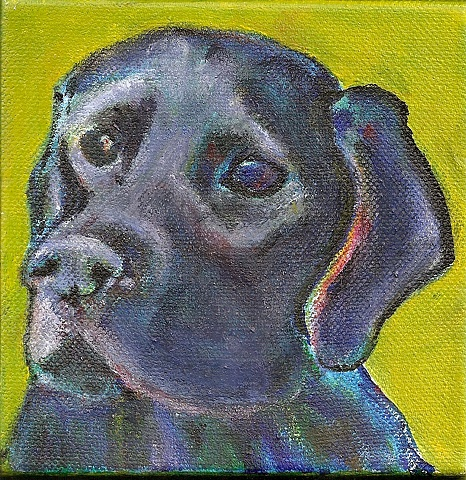 Pet Painting of a Black Lab