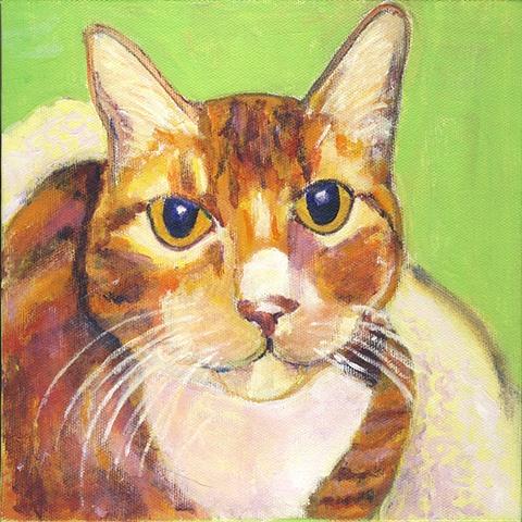 orange tabby cat painting CUSTOM