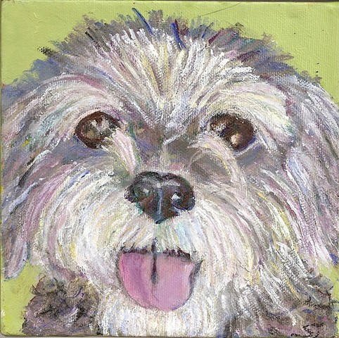 mixed breed painting, custom order