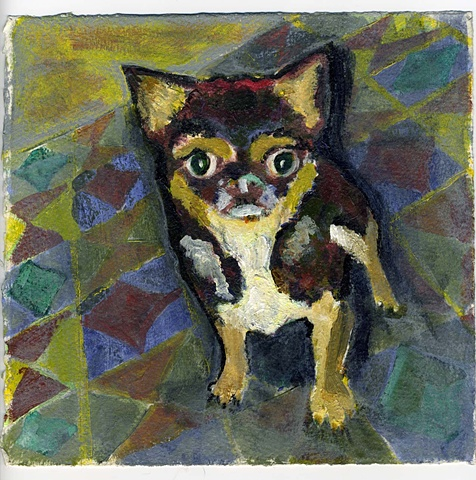 Pet painting of a chihuahua mix