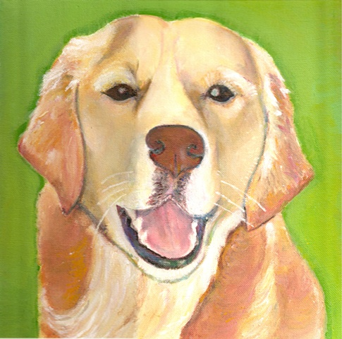 Pet Painting -- Golden Retriever