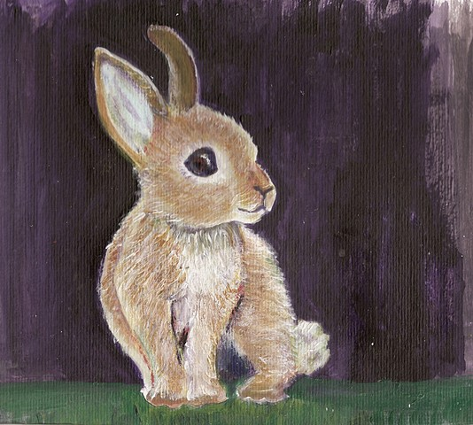 Sweet bunny painting for sale