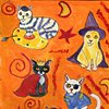 Costumed cats