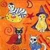 Costumed cats