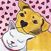 Interspecies love or Cat loves dog