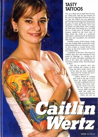 Old Tattoo Magazine article with work from myself, Ben Reece, and a few other guys from Maui.