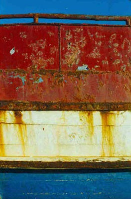 rusty boat in Sagres, Portugal