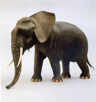 elephant in ash