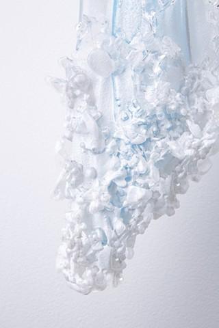 Detail of waterfall foam