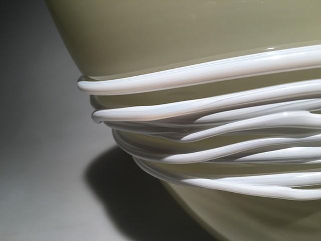 Sand Grey Fan Bowl detail