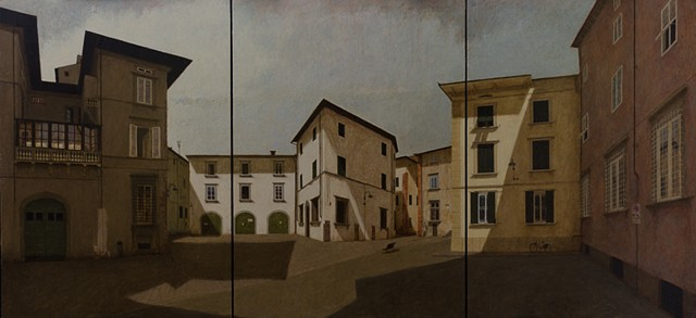 plein aire, italy, buildings, Lucca