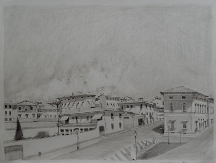 italy, Lucca, train, treni, pencil, paper, piazza