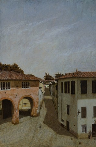 italy, Lucca, oil on panel, architecture, plein aire