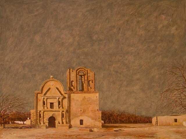 painting by brian h reynold tumacacori plein air art arizona