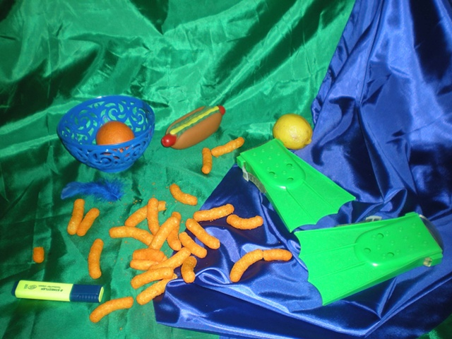 """Still Life with Plastic Hot Dog"""